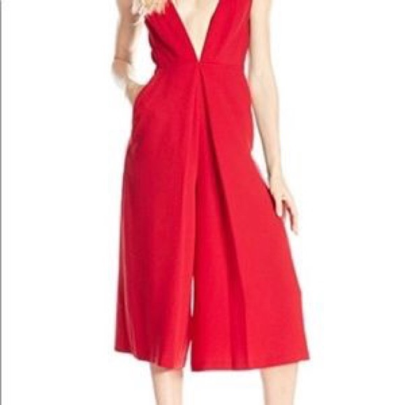 BCBG Red jumpsuit